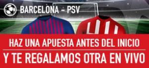 Barcelona v Psv haz una apuesta antes del inicio y ¡te regalamos otra en vivo! en Sportium