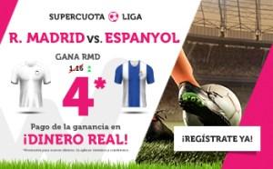 Megacuota 4.0 para el Real Madrid en Wanabet