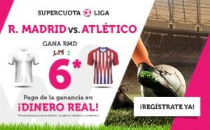 Megacuota 6 R.Madrid gana a Atletico Madrid en Wanabet