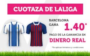 Cuotaza de la liga 1.40 a la victoria del Barcelona en Wanabet
