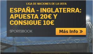 España-Inglaterra apuesta 20€ y llevate 10€ con Betfair