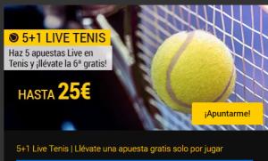 5+1 en tenis live en Bwin
