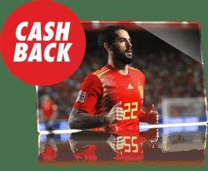 España-Inglaterra,apuesta reembolsada si hay mas de 2.5 goles en Circus