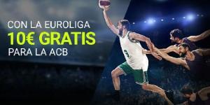 Con la Euroliga 10€ gratis para la Acb en Luckia
