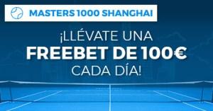 Master 1000 de Shanghai llevate una freebet de 100€ cada dia en Paston