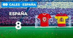 Megacuota 8 a la victoria de España en Paston