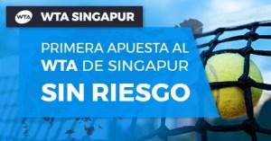 Wta Singapur primera apuesta sin riesgo en Paston