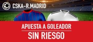 Cska Moscu-R.Madrid apuesta a primer goleador sin riesgo en Sportium
