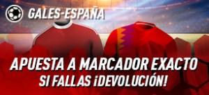 Gales-España apuesta a marcador exacto y si fallas devolucion en Sportium