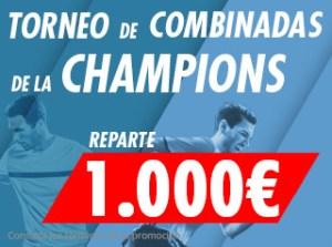 Torneo de combinadas Champions repartimos 1000€ en Suertia