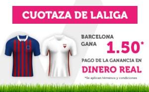 Cuotaza de la liga 1.50 Barcelona gana en Wanabet