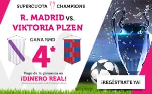 Megacuota 4 R. Madrid gana en Champions en Wanabet