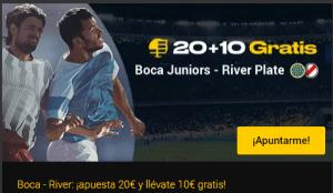 20+10 Boca J.-River Plata en Bwin