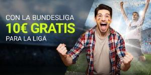 Con la bundesliga 10€ gratis para la liga en Luckia