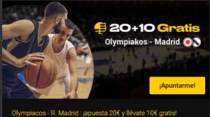20+10 Olympiakos-Madrid en Bwin