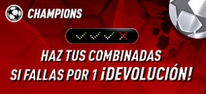 Champions haz tus combinadas si fallas por una devolucion con Sportium