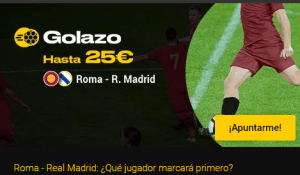 Golazo hasta 25€ con Roma-R.Madrid en Bwin