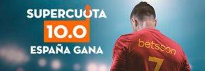 Megacuota 10 gana España el jueves frente a Croacia en Betsson