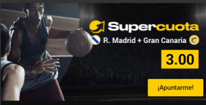 Megacuota 3 R.Madrid-Gran Canaria,gana hasta 50€ extra en Bwin
