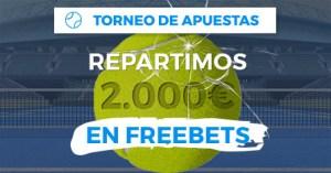 Torneo de apuestas repartimos 2.000€ en freebets en Paston