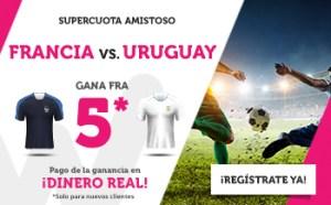 Megacuota 5 gana Francia a Uruguay en Wanabet