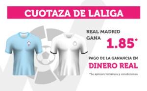 Cuotaza de la liga Real Madrid gana 1.85 en Wanabet