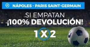 Napoles-Paris SG si empatan devolucion en Paston