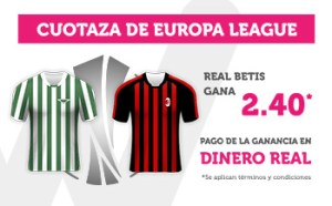 Cuotaza 2.40 gana Betis al Milan en Wanabet