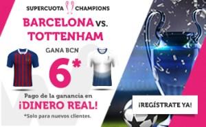 Megacuota Champions 6.0 gana Barcelona en Wanabet