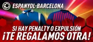Espanyol-Barcelona si hay penalti o expulsion te damos otra con Sportium