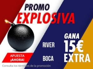 Promo explosiva River-Boca gana hasta 15€ extras con Suertia