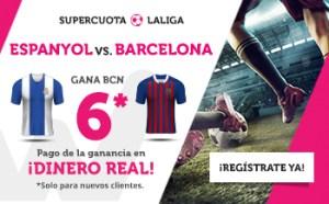 Megacuota 6 gana Barcelona a Espanyol en Wanabet