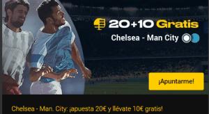 20+10 Chelsea-Manchester en Bwin