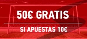 50€ gratis si apuestas 10€ en Sportium