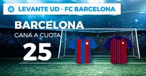 Megacuota 25 Barcelona gana en liga con Paston