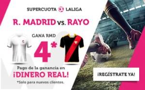 Megacuota 4 gana R. Madrid a Rayo en Wanabet
