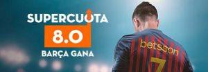 Megacuota 8 gana Barcelona a Celta en Betsson