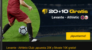 20+10 Levante-Athletic en Bwin