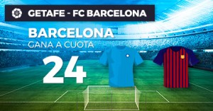 Megacuota 24 gana Barcelona a Getafe con Paston