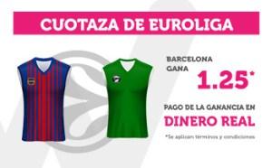 Cuotaza euroliga 1.25 gana Barcelona en Wanabet