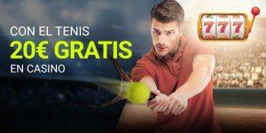 Con el tenis 20€ gratis en el casino Luckia