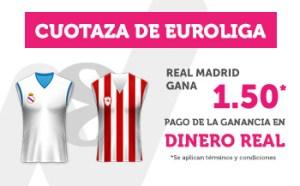 Cuotaza Euroliga 1.50 gana Real Madrid con Wanabet