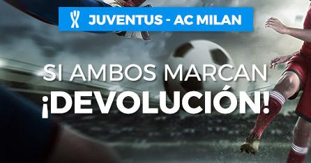 Juventus-Milan si ambos marcan devolucion en Paston