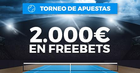 Torneo de apuestas Open de Australia 2000€ en freebets con Paston