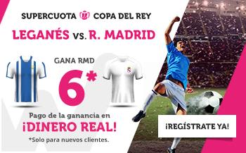 Megacuota 6 gana Real Madrid en copa del Rey con Wanabet