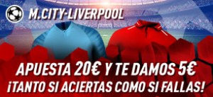 M.City-Liverpool apuesta 20€ y te damos 5€ con Sportium
