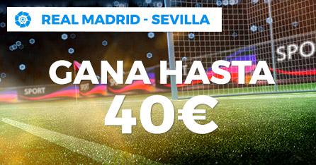 R.Mdrid-Sevilla gana hasta 40€ con Paston