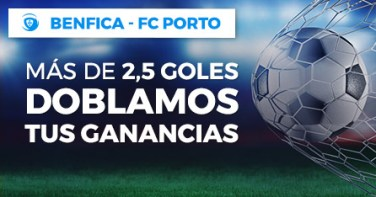 Benfica-Porto mas de 2.5 goles doblamos tus ganancias en Paston