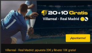 20+10 Villarreal-Madrid en Bwin