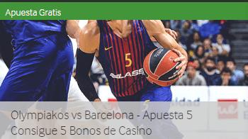 Olympiakos-Barcelona apuesta 5€ y consigue 5€ para casino Betway